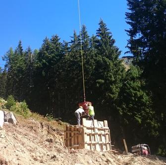 Travaux construction 2 télésièges Grand Tourmalet