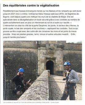 Dévégétalisation Citadelle BLAYE