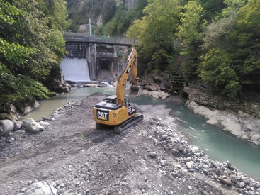 Reconstruction seuil Barrage de Gèdre