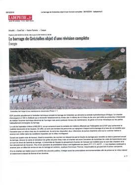 Barrage EDF Gréziolles